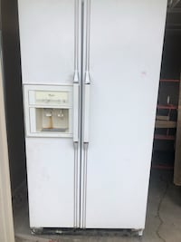 white side-by-side refrigerator with dispenser Saginaw, 76179