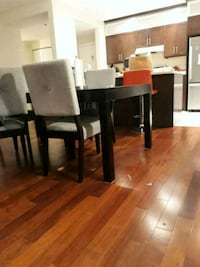 rectangular brown wooden table with six chairs dining set Mont-Royal, H3S 1A3
