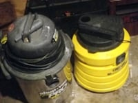 Two used shop vacs