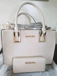 white Michael Kors leather tote bag Manassas Park, 20111
