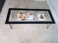 Glass Coffee Table with Hairpin Legs $80 OBO Washington, 20019