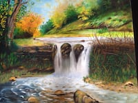 Water falls painting McLean
