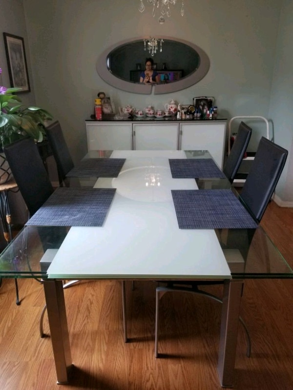 Beautiful Glass Dania Dining Room Set