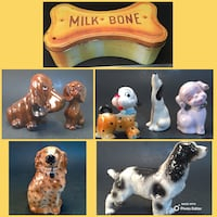 VTG Dog Lot-6 Figures, 1 Planter, 1 Tin-See All Pics-Will NOT Divide Norman, 73071