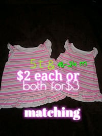 toddler's pink and white stripe tank tops Calgary, T3B 0T3