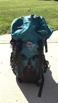 Hiking backpack with sleeping bag included. Good condition. Padded back Overland Park, 66085