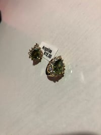 Green Earrings Chantilly
