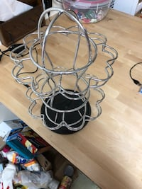 black and white metal candle holder 947 mi