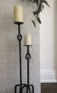 Pier 1 solid iron 1m high candle sticks  St Thomas, N5P