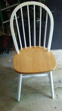 brown and white wooden windsor chair Tulsa, 74134