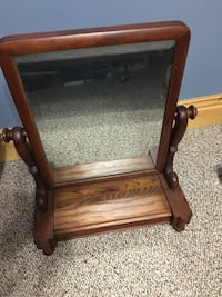 brown wooden framed glass top side table Smith-Ennismore-Lakefield