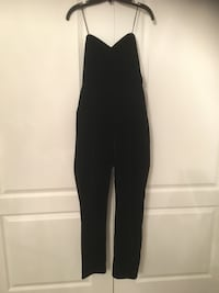 BNWT Le Chateau Black Velvet Strapless Jumpsuit Size Small  Mississauga, L4Z 4A1