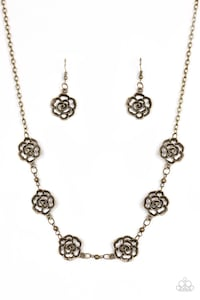 Paparazzi Brass Necklace and Earring Set $5.30 Silver Spring, 20910