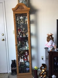 Brown wooden framed glass display cabinet the stuff inside  is not for sale  Martinsburg, 25404