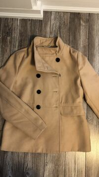 brown double-breasted coat