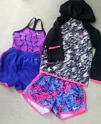 Girls/kid Nike hoodie and shorts set Coquitlam, V3J 3Y3