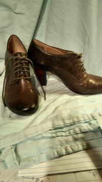 Brown leather shoes Richmond