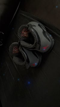 pair of gray-and-red Nike basketball shoes Racine, 53404
