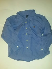 men's blue GAP dress shirt