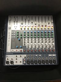 Soundcraft 12 channel mixing board