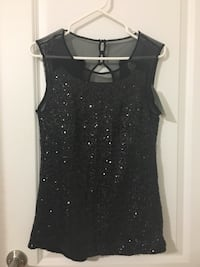 Black/sequin/ going out top/ Tristan brand/ size S Pointe-Claire
