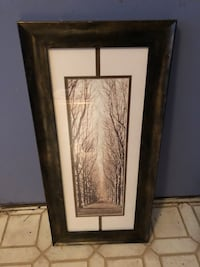 brown wooden framed painting of trees Gaithersburg, 20879