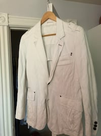 Jack & Jones white slim blazer (about 38, size medium). Only need to iron a bit, and it'll look great Toronto, M6J 3H1