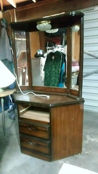 brown wooden vanity dresser with mirror Fresno, 93703