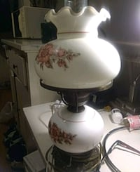 white and brown floral table lamp 41 km