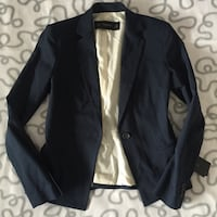 Zara navy blue blazer Size S Richmond, V6X 1K4