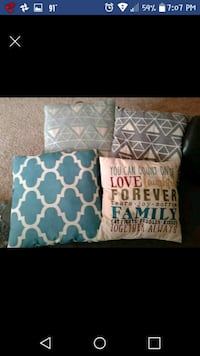 two white and blue throw pillows Lawrence, 66047
