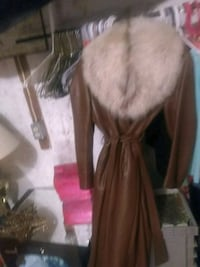 women's brown and black fur coat St. Catharines, L2W 1B6