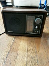 black and gray transistor radio