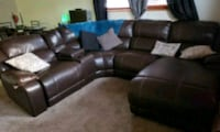 brown leather sectional sofa Centennial, 80122