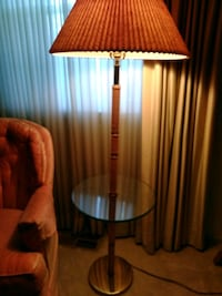 brown and white table lamp Laurel, 20708