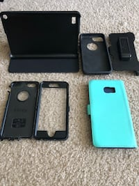 iPhone 6 Otterbox defender case; galaxy 6+ edge case; android 8' tablet case & NeW hdmi cords