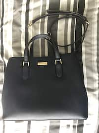 09666f77f916 black leather 2-way handbag. black leather 2-way handbag. Batley