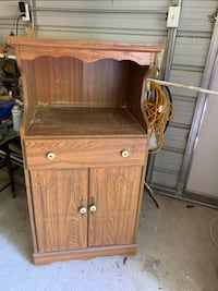 Curio cabinet, china cabinet and microwave cabinet.