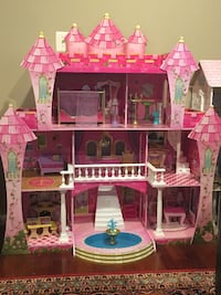 pink and white doll house FALLSCHURCH