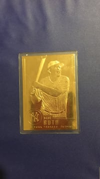 Babe ruth New York yankees gold bar card North Olmsted, 44070