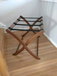 brown wooden frame folding luggage rack Woodbridge, 22192