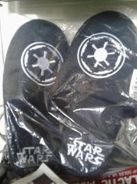 blue-and-white star wars home slippers
