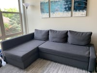 IKEA FRIHETEN Corner sofa bed with storage, Skiftebo dark gray Silver Spring, 20910