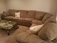 Large microfiber sectional couch