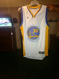 white and blue Golden State Warriors jersey Savannah, 31408