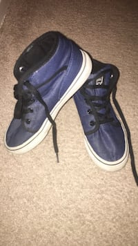 Pair of blue-and-white fila sneakers