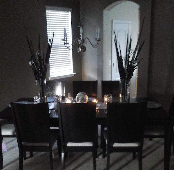 Beautiful dining room table with eight chairs