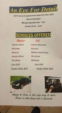 call today to set up appointment Des Moines, 50317