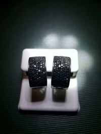 Black diamond hoop earrings Cambridge, N3H 5L5