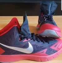 pair of black-and-red Nike basketball shoes Pickering, L1Z